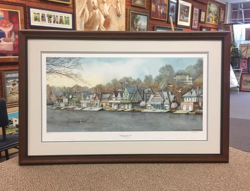 Boathouse Row Painting Wood Frame