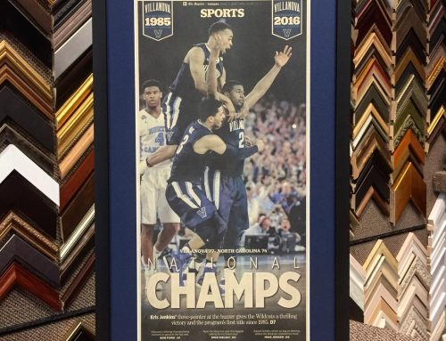 Custom Villanova Newspaper Framing