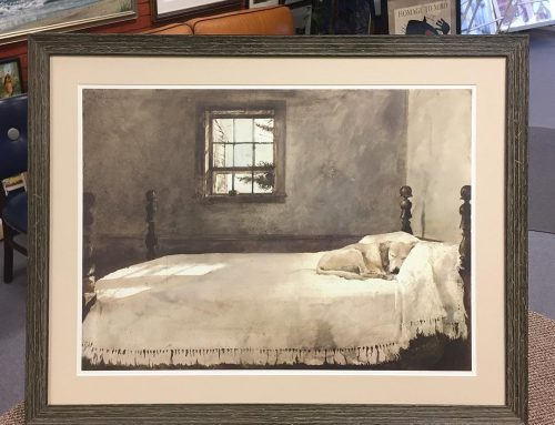 "Andrew Wyeth ""Master Bedroom"" Rustic Frame"