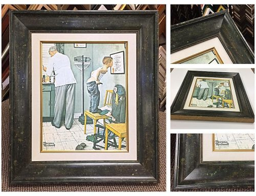 Norman Rockwell Canvas Print Frame
