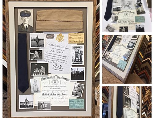 Collage Custom Military Box Framing