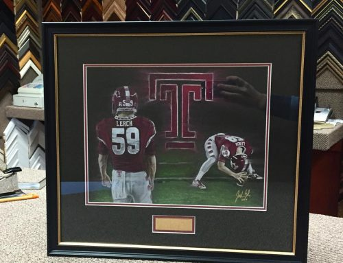 Custom Temple Football Art Frame